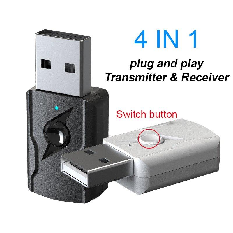 Adaptador USB 4 en 1 Bluetooth 5,0, Receptor AV Transmisor Inalámbrico Bluetooth para PC, TV, coche, adaptadores de teléfono móvil y convertidores TXTB|Adaptador inalámbrico|   - AliExpress
