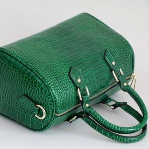 Image 4 - Luxury Boston Bag Genuine Leather Women Bag\Handbag Leopard Pattern Brand Lady Pillow Tote Cowhide Big Shoulder Crossbody Bag