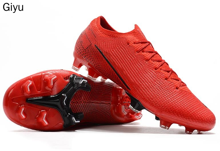 New Adults Men's Outdoor Soccer Cleats Shoes High Ankle FG Football Boots Training Sneakers
