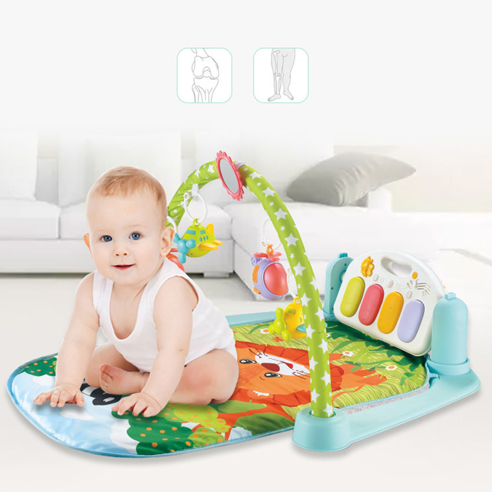 Baby Play Mat Newborn Pedal Piano Fitness Rack Kids Music Crawling Mat Music Game Blanket Comfort Music Early Education Puzzle