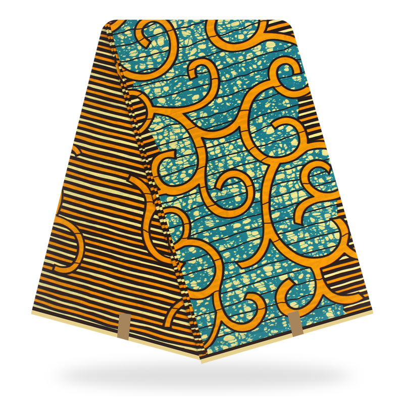 African Wax Print Fabric High Quality Hollan Cotton Material Ankara Fabric Sewing Veritable Dutch Real Dutch Wax 6yard For Dress
