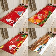 Christmas mat , home flannel Anti-Slip absorbent soft mat,Kitchen absorbent floor mat,Kitchen absorbent floor mat plate floor pad plate type flower type printing anti slip absorbent flannel home floor pad