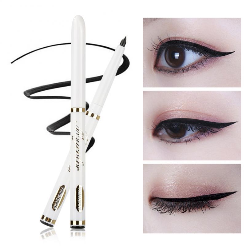 Mulheres Retrátil Rotação Automática Preto Delineador de Longa Duração À Prova D Água Lápis de Olho Smudge-Proof Eye Cosméticos TSLM1