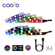 Magnetic RGB LED Strip Light Full Kit for PC Computer Case, SATA power supply interface,Fixed by Magnet,Remote Control Color rgb led strip light full kit led lights for pc case sata power supply interface remote control pc computer case adhesive tape