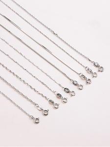 Chain Necklace Wedding-Statement 925-Sterling-Silver Woman Fashion Genuine