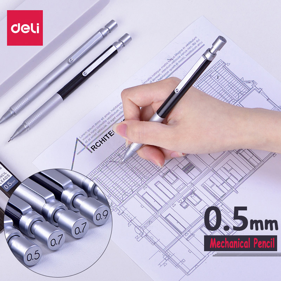 High Quality Full Metal Mechanical Pencil 0.5/0.7/0.9mm For Professional Painting And Writing School Supplies Send 1 Refills