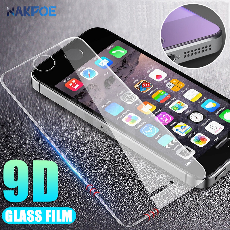 9D Tempered Glass For Apple IPhone 5 5S 5C SE Anti-Burst Tempered Screen Protector Glass On For IPhone 5S SE 4S Protective Film