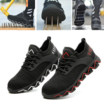 Breathable Mesh Work Safety Shoes Steel Toe Cap Lightweight Men Fashion safety sneakers Casual Security New