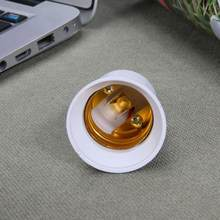 1pc Plastic E14 to E27 Socket Adapter Conversion Lamp Holder Fireproof Converter Socket Light Bulb Adapter Led Light Base Light(China)