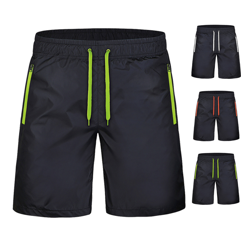 5XL-9XL Mens Shorts Summer Elastic Waist Short Pants Male Solid Zipper Pockets Polyester Beach Compression Shorts Black Newest