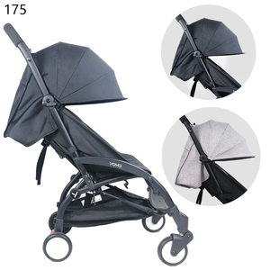 Image 4 - Stroller Sun Cover And Cushion Oxford Cloth Back Zipper Pocket Baby Stroller Accessories For Yoya Baby Throne Babytime Stroller