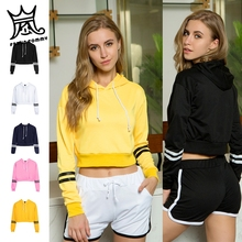 2019 FRDUN TOMMY Womens sweatshirt girls sudadera mujer cropped Hoodies women Crop Pullover Top sexy crop top moletom feminino