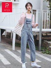 Женские джинсы большого размера rfzk 2020 подтяжки ковбойские