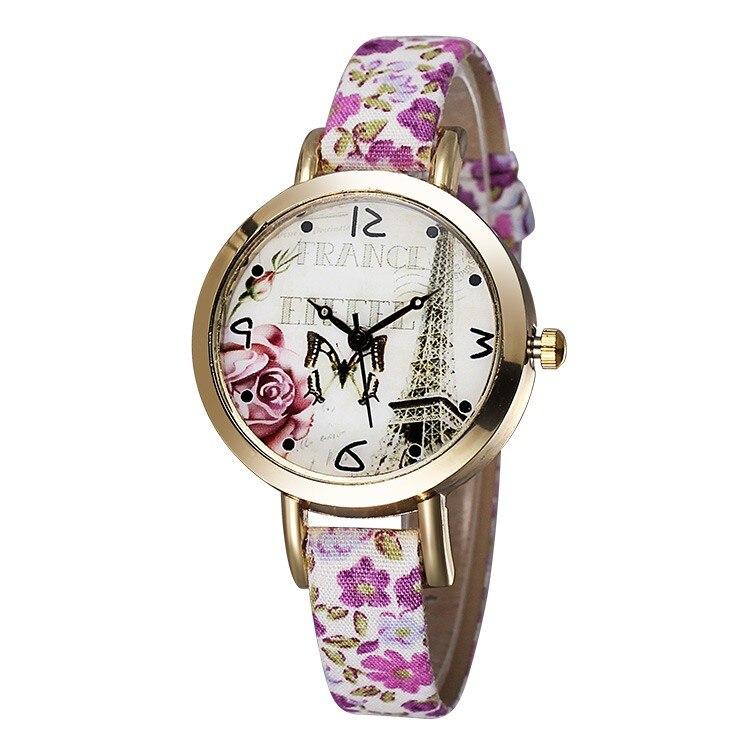 de couro moda casual relógio de quartzo