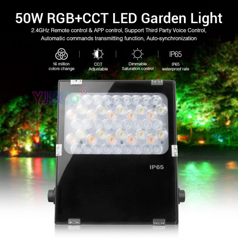 Işıklar ve Aydınlatma'ten Işıldaklar'de Miboxer 50W RGB + CCT LED bahçe lambası FUTC06 yeşil alan/Park/yol/dekorasyon akıllı açık ışık lambası AC100 ~ 240 su sızdırmaz IP65 title=