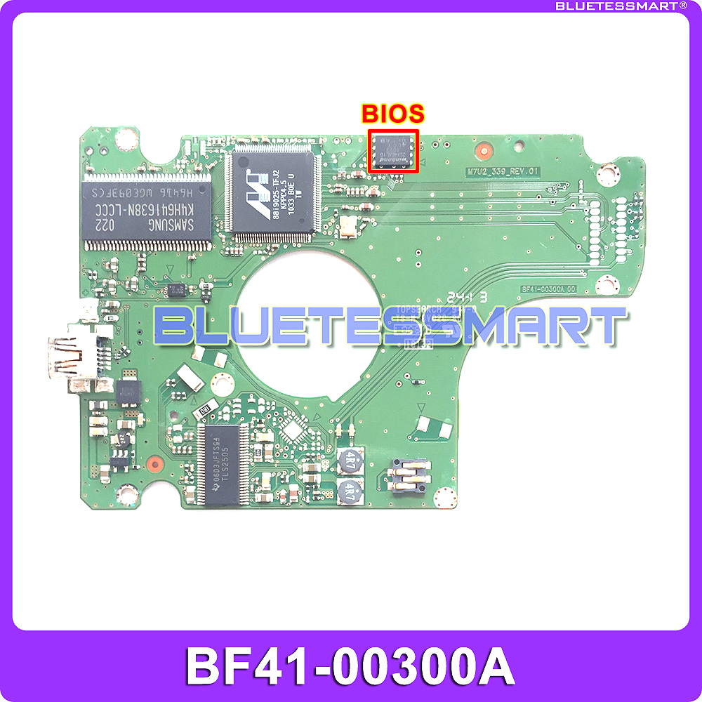 USB 2.0 hard drive PCB board BF41-00300A for Samsung HDD data recovery, hard disc repair 1