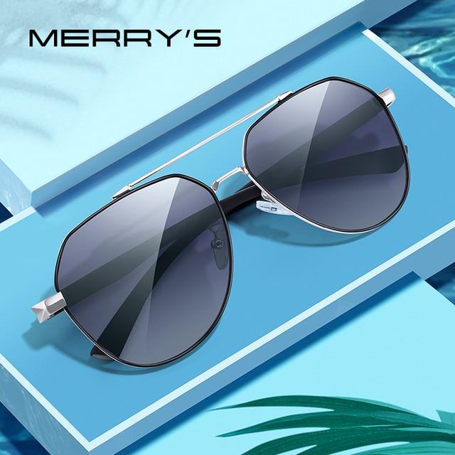 MERRYS DESIGN Men Classic Sunglasses HD Polarized Pilot Sun glasses For Driving Fishing TR90 Legs UV400 Protection S8258