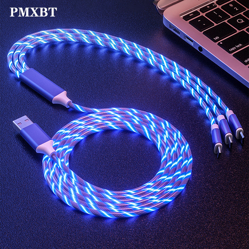 <font><b>3in1</b></font> Micro <font><b>USB</b></font> Type C <font><b>Cable</b></font> lighting Fast Charging For Samsung Huawei Xiaomi Redmi Android Mobile Phone Fast Charger Wire Cord image