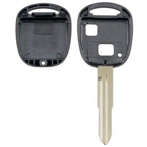 Image 3 - Smart Remote Auto Schlüssel Shell Auto Auto Schlüssel Fall Ersatz mit TOY41 Uncut Klinge und Gummi Taste Pad Fit für toyota Yaris Auto