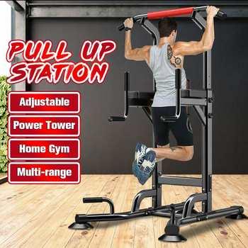 Estação de mergulho de torre de energia interior puxar para cima barra equipamentos de fitness para ginásio em casa barra horizontal interior musculação exercício treino