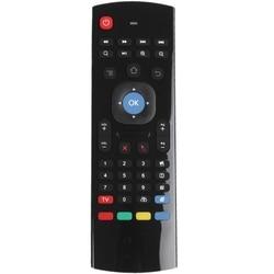 MX3 przenośne 2.4G bezprzewodowy klawiatura bezprzewodowa kontroler air mouse dla smart tv z androidem tv  pudełko mini PC HTPC czarny w Piloty zdalnego sterowania od Elektronika użytkowa na