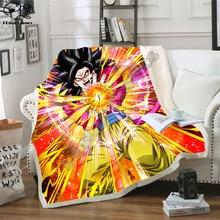 Newest Anime Dragon Ball 3D Printed Sherpa Blanket Couch Quilt Cover Travel Bedding Outlet Velvet Plush Throw Fleece Blanket 02