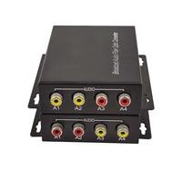 2 Channel Bidi Audio RCA to Fiber optic Extender (Bidirectional) FC SM 20km Over FC Audio intercom broadcast system (Tx/Rx)Kit
