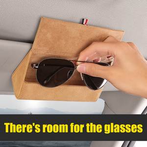 Image 5 - Car Sun Visor Glasses Box Storage Holder Sunglasses Case for Mitsubishi RALLIART ASX Lancer Colt Pajero Outlander Eclipse Galant