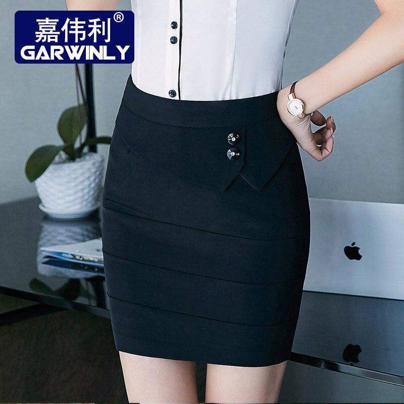 Jia Wei Li Wear Tailored Skirt Women Dress Ol Commuting One-step Skirt Black And White With Pattern Skirt Slim Fit Slimming Shea