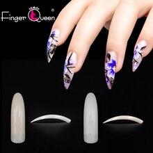 Fingerqueen 1set Fashion Women French False Nail Tips Artifi