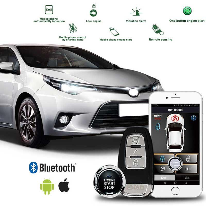 Универсальный БЕСКЛЮЧЕВОЙ вход комфорт PKE Start Stop Ios/Android APP телефон Автомобильная сигнализация Boost удаленный запуск двигателя автомобиля для