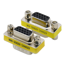 VGA 15pin connector DB15 pin MINI Gender Changer adapter RS232 Com D-Sub to Female Female 24 pcs d sub 15 pin female connector right angle 3 rows