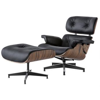 Nowoczesna jakość czarne skórzane światło palisander fotel wypoczynkowy klasyczne krzesło obrotowe salon jadalnia sypialnia fotel Sofa meble tanie i dobre opinie CN (pochodzenie) Nowoczesne Meble do salonu 90*50*61*40 46*63*54 TY-307 Minimalistyczny nowoczesny Szezlong Meble do domu