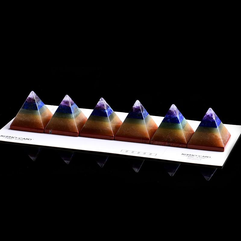 1 adet doğal kristal Mineral süsler renkli piramit sihirli onarım ev dekor çift dekorasyon DIY hediye ücretsiz kargo