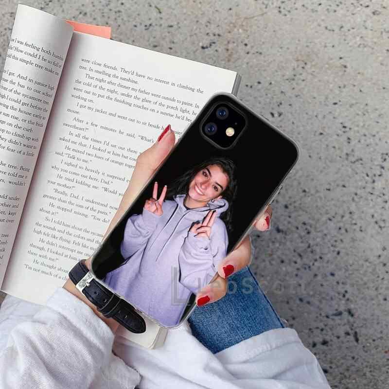 Funda para iPhone 12 piel sint/ética, cierre magn/ético, tapa blanda KAIXIN Charli Damelio color negro