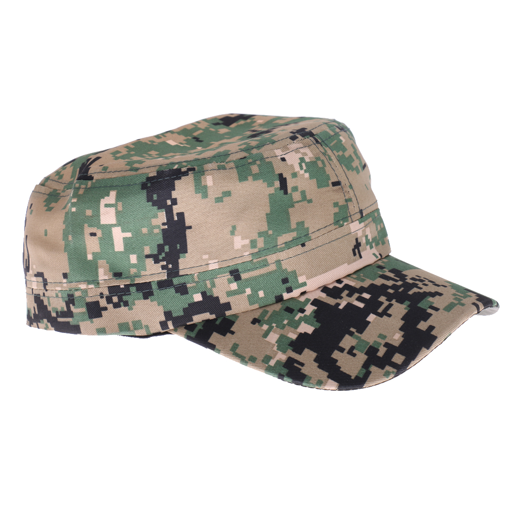 Mens Army Camouflage Military Camo Combat Soldier Patrol Hat Baseball Cap #2