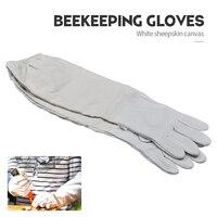 Bijenteelt Handschoenen Beschermende Mouwen Geventileerde Professionele Schapenvacht En Canvas Anti Bee voor Imker