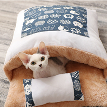 Cat's nest warm in winter cat closed removable quilt nest small dog Japanese net red sleeping bag pet supplies,cat nest