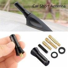 Высококачественная Автомобильная алюминиевая антенна 1,4 дюйма, короткая Автомобильная радиоантенна из углеродного волокна, универсальная...