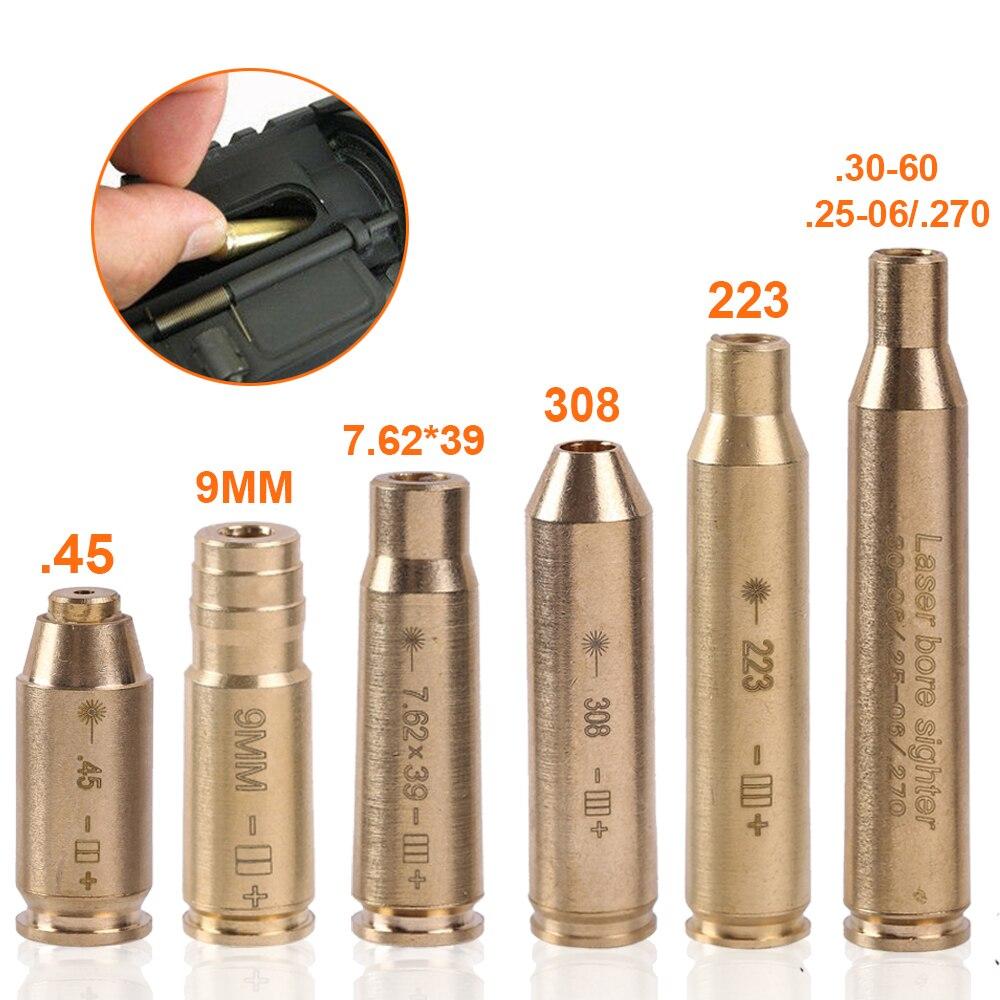Тактический лазер с красной точкой, латунь, Boresight CAL.308 .223 .40 .45 30 06 CAL 7,62x39, патрон, медная скважина|Лазеры|   | АлиЭкспресс