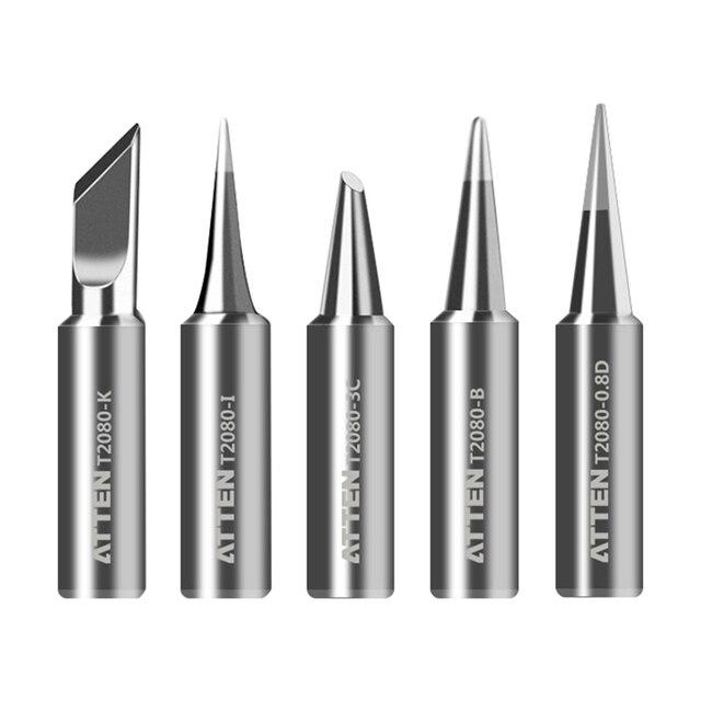 ATTEN Soldering Iron Tip Replacement Bit Head K B I 3C 5C 6.4C 3.2D 4.6D 6.5D 0.8D 1.6D 1.2D Lead Free for ST-2080 ST-2080D 1