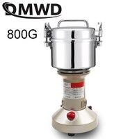 Dmwd aço inoxidável moedor elétrico chinês ervas moinho de medicina máquina moagem nozes café pulverizador 800g ervas triturador ue