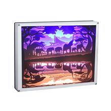 Shadow-Box Snap-Frame Art-Display Paper-Lamp Gift Wall Home-Wall-Decor 3D with Led-Light
