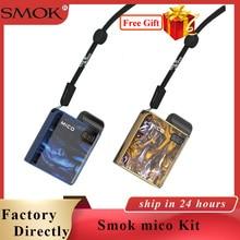 Original Electronic cigarette SMOK Mico kit with 700mAh battery pod mod MTL vaping vape 1.7ml Vape Somk mico Pod