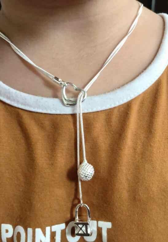 Moda biżuteria luksusowy ślub naszyjnik dla kobiet łańcuchy wisiorek N022
