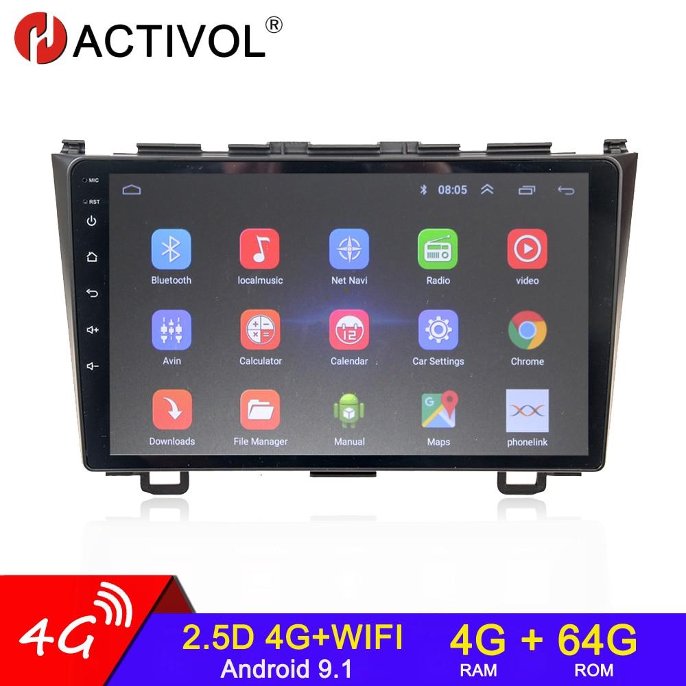 Автомагнитола 2 din, 4 + 64 ГБ, Android 9,0, GPS-навигация для Honda CRV CR - V 3 RE 2006-2012