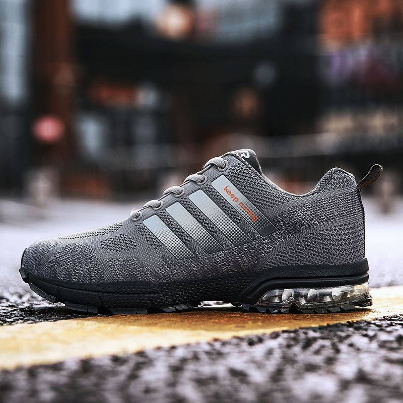 2020 Light Keep Running Shoes For Men Air Cushion Sport Shoes Breathable Mesh Lace Up Walking Jogging Athletic Footwear Size 47