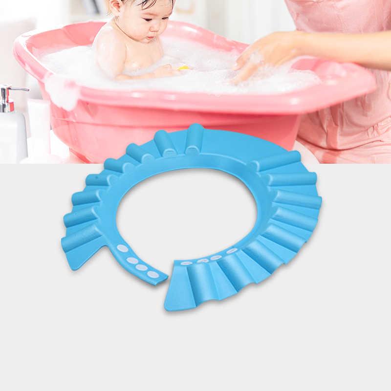 ปลอดภัยอาบน้ำอาบน้ำอาบน้ำป้องกันหมวกหมวกนุ่มสำหรับ Baby WASH Hair SHIELD S เด็กหมวกอาบน้ำหมวกเด็กน้ำเด็ก