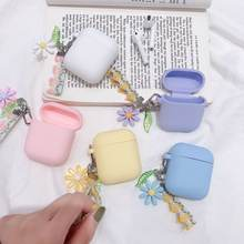 Роскошный милый корейский цветочный декоративный чехол для apple