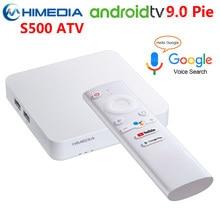 Himedia S500 Smart TV BOX Android 9.0 ATV 2GB RAM 8GB ROM 2.4G 5G WIFI odtwarzacz multimedialny Bluetooth 4K głos Androidtv dekoder